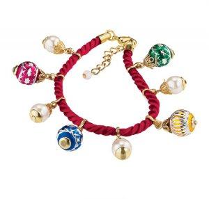 Christmas Ornament Charm Bracelet - Avon