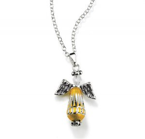 Two-Tone Christmas Angel Necklace - Avon