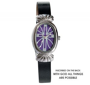 Mother or Pearl Inspirational Cross Watch - Avon