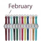 February Pavé Bezel Birthstone Watch - Avon