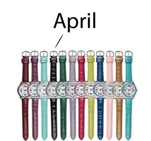 April Pavé Bezel Birthstone Watch - Avon