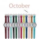 October Pavé Bezel Birthstone Watch - Avon