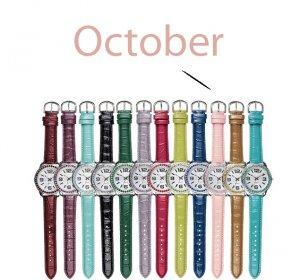 October Pavé Bezel Birthstone Watch - Avon