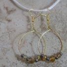 Gold Glass Beads with Metalic seedbeads