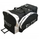 Elite Senior Wheeled Hockey Equipment Bag Black/Silver