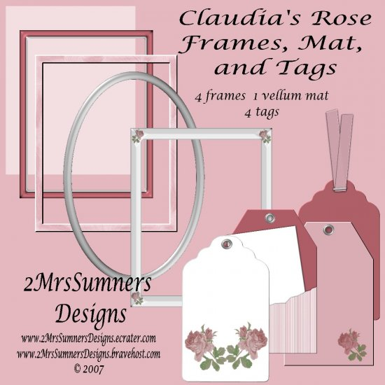 Claudia's Rose Tags and Frames