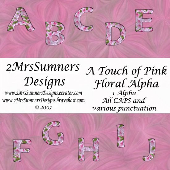 A Touch of Pink Floral Alpha