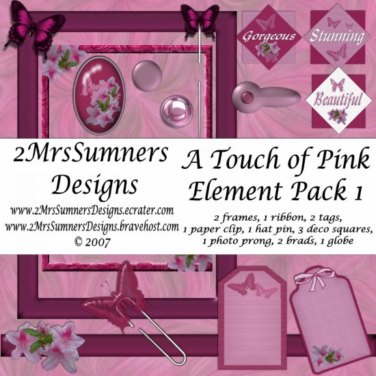 A Touch of Pink Element Pack 1