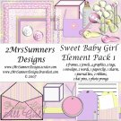 Sweet Baby Girl Element Pack 1