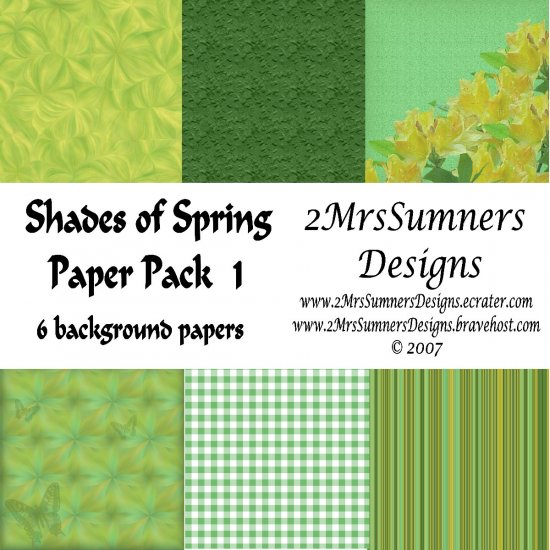 Shades of Spring Paper Pack 1