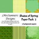 Shades of Spring Paper Pack 2
