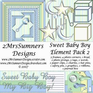 Sweet Baby Boy Element Pack 2