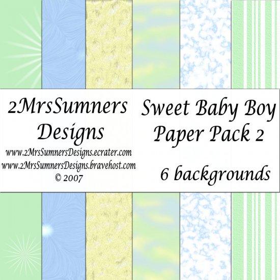 Sweet Baby Boy Paper Pack 2