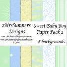 Sweet Baby Boy Paper Pack 2