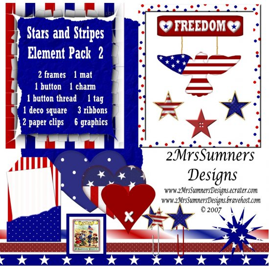 Stars and Stripes Element Pack 2