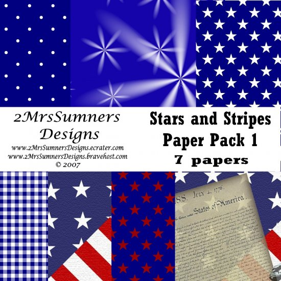 Stars and Stripes Paper Pack 1