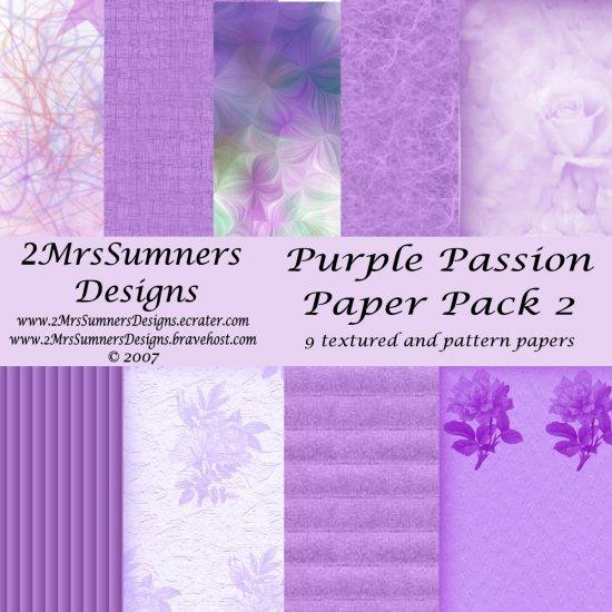 Purple Passion Paper Pack 2