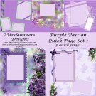 Purple Passion Quick Page Pack 1