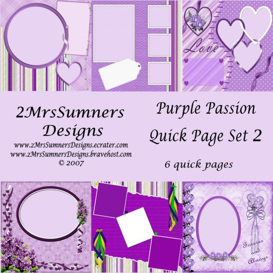 Purple Passion Quick Page Set 2