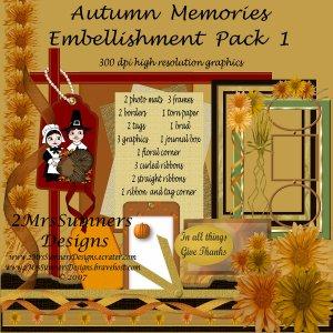 Autumn Memories Element Pack 1