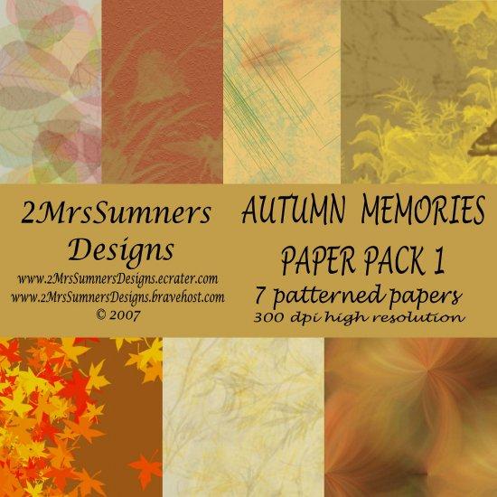 Autumn Memories Paper Pack 1