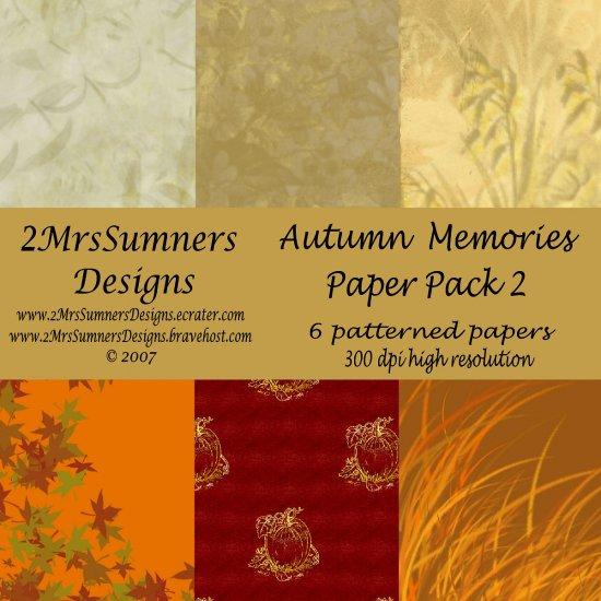 Autumn Memories Paper Pack 2