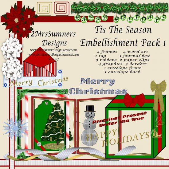 Tis the Season Element Pack 1