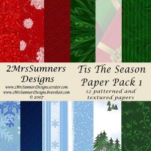 Tis the Season Paper Pack 1