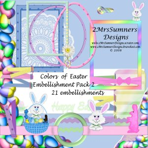 Colors of Easter Element Pack 2