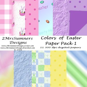 Colors of Easter Paper Pack 1