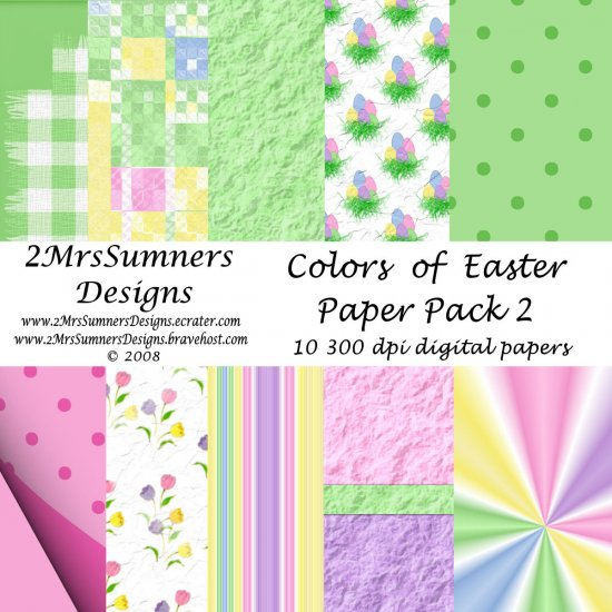 Colors of Easter Paper Pack 2