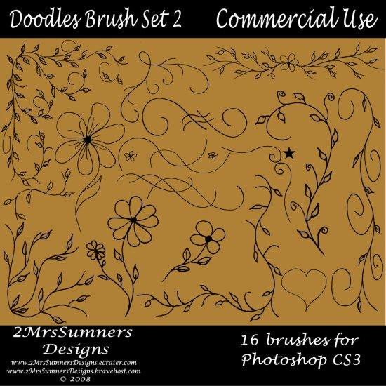 Doodles Brush Set 2