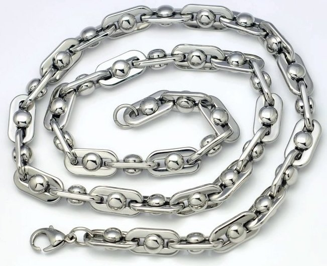 new style Titanium STEEL NECKLACE -Free shipping n-009