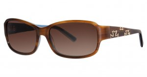 Nicole Miller THOMPSON Sunglasses C02 Blonde Tortoise