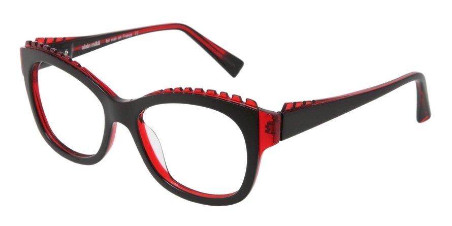 Alain Mikli 0A01400 BLACK RED BLACK Optical