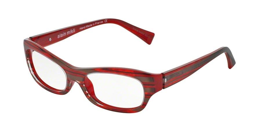 Alain Mikli 0A01010 DARK RED/BLACK BROWN STRIPES Optical