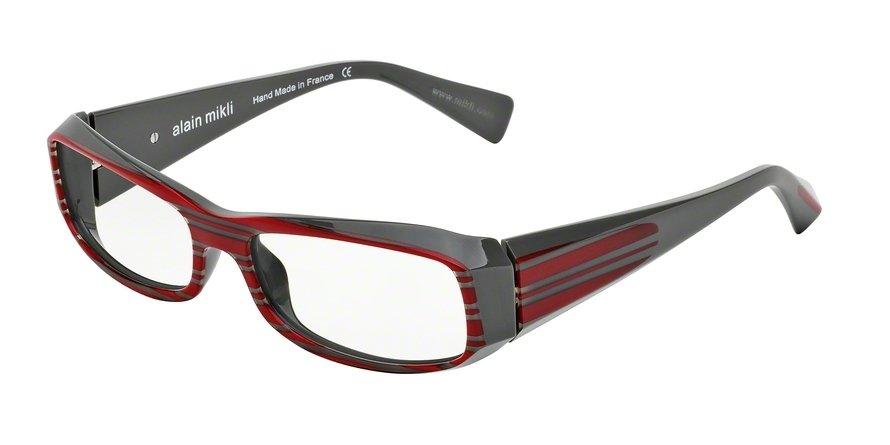 Alain Mikli 0A00322 DARK GREY/RED STRIPES Optical