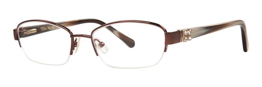 Vera Wang ACACIA Brown Eyeglasses Size51-17-130.00