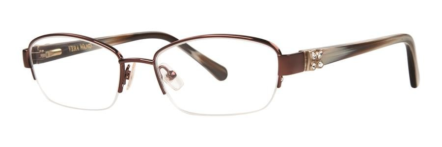 Vera Wang ACACIA Brown Eyeglasses Size53-17-135.00