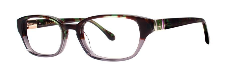Lilly Pulitzer ALANIS Green Tortoise Eyeglasses Size49-17-135.00
