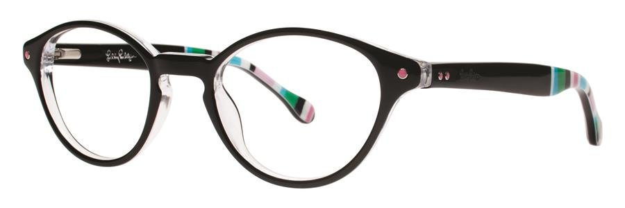 Lilly Pulitzer ALLAIRE Black Eyeglasses Size45-19-135.00