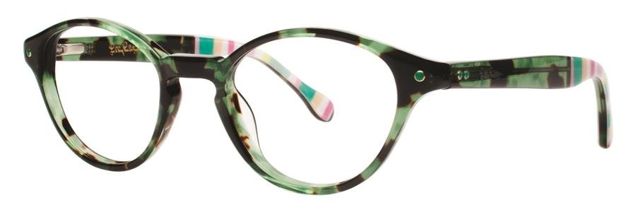 Lilly Pulitzer ALLAIRE Green Tortoise Eyeglasses Size45-19-135.00