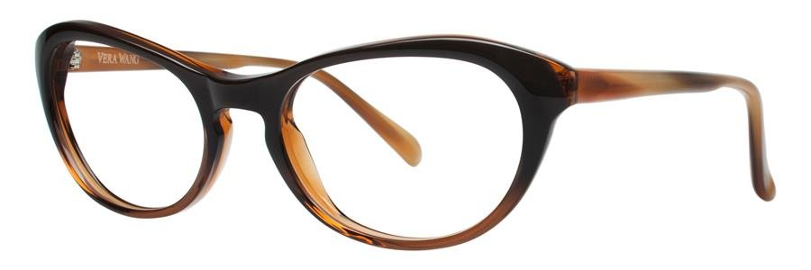 Vera Wang AMARA Brown Eyeglasses Size52-17-135.00