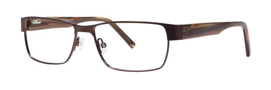 Jhane Barnes ARITHMETIC Brown Eyeglasses Size54-15-140.00