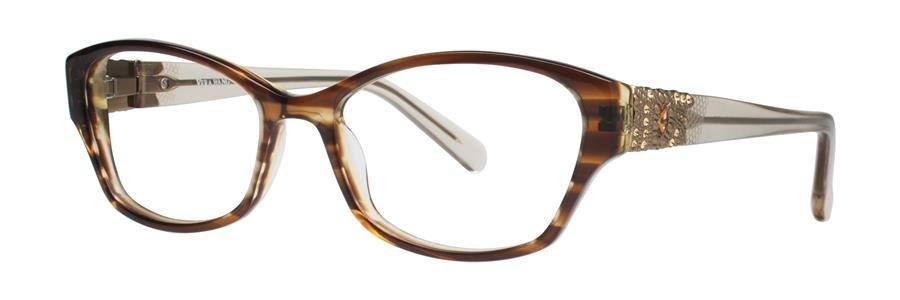 Vera Wang AUDE Brown Eyeglasses Size50-16-133.00