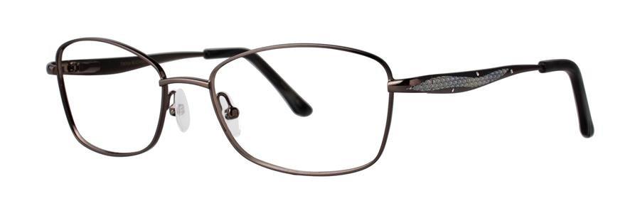 Dana Buchman BEVERLY Gunmetal Eyeglasses Size50-17-