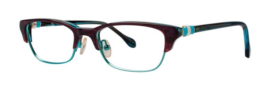 Lilly Pulitzer CAMBELL Grape Turquoise Eyeglasses Size48-16-130.00