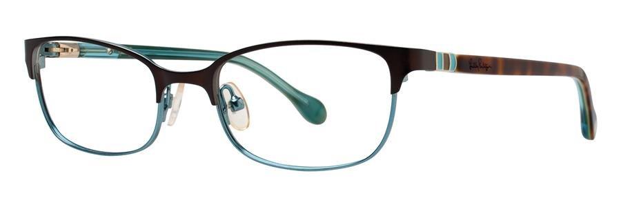 Lilly Pulitzer CAMBREY Chocolate Eyeglasses Size48-17-130.00