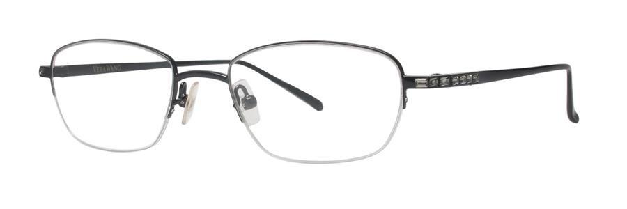 Vera Wang CELIA Black Satin Eyeglasses Size50-18-135.00