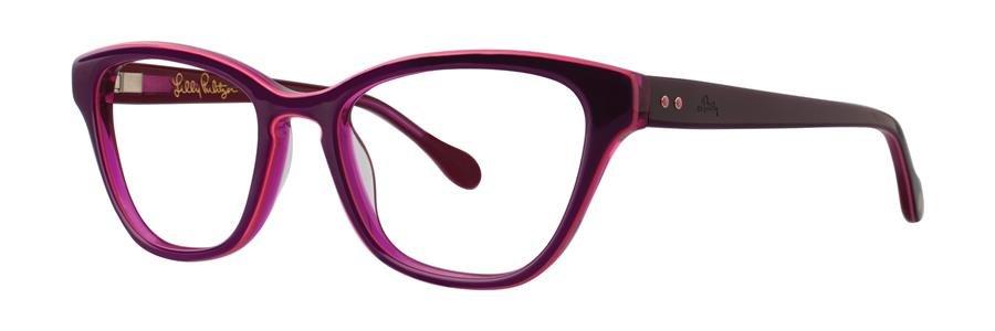 Lilly Pulitzer COPELAND Eggplant Eyeglasses Size50-17-135.00